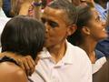 News video: Raw Video: Kiss Cam Catches Obamas